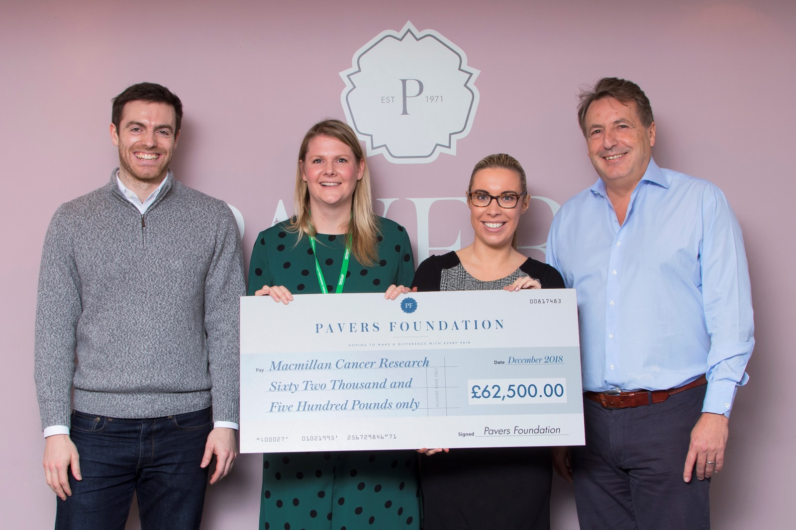 Macmillan Cancer Care and The Pavers Foundation