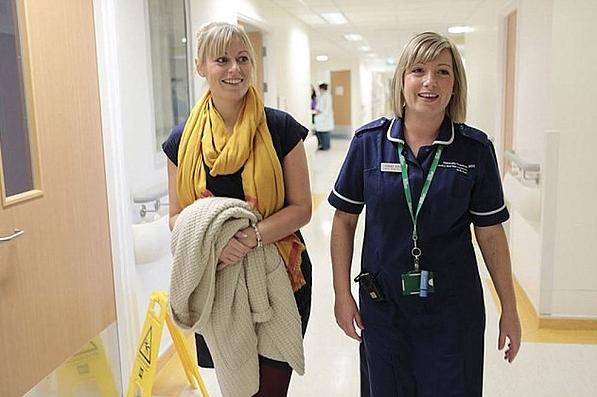 Macmillan Nurse and Patient Kate