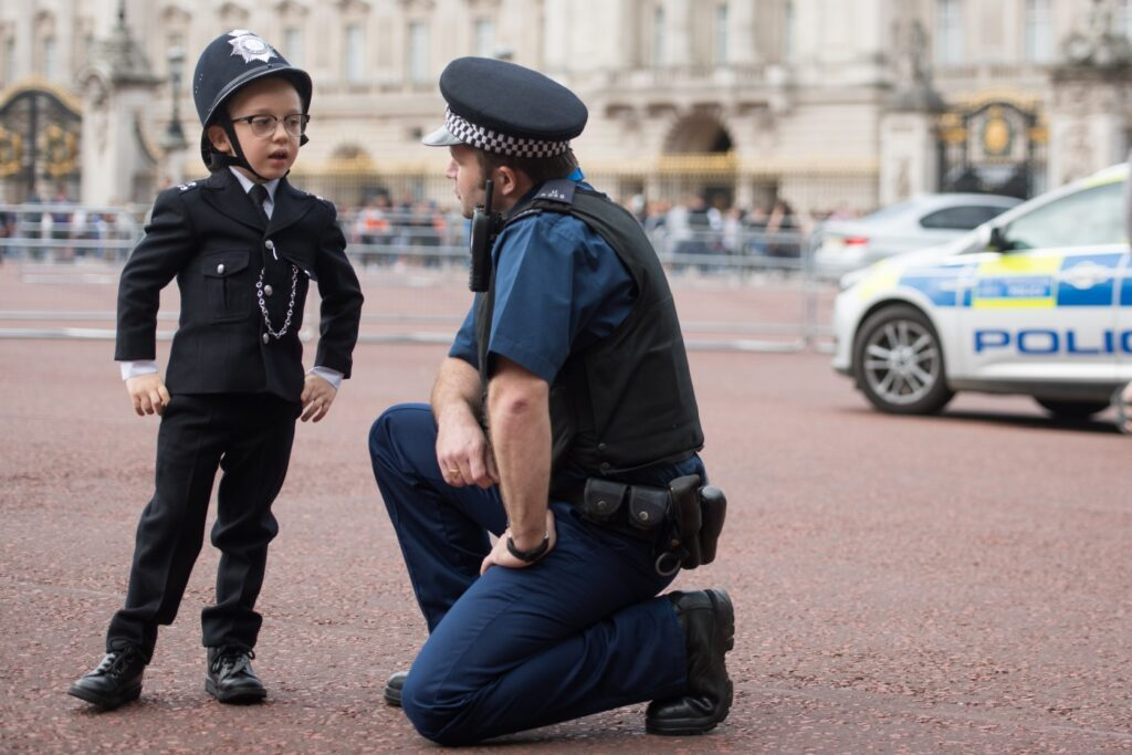 Charlie Peebles wish was granted by Starlight. He became a police officer for the day.