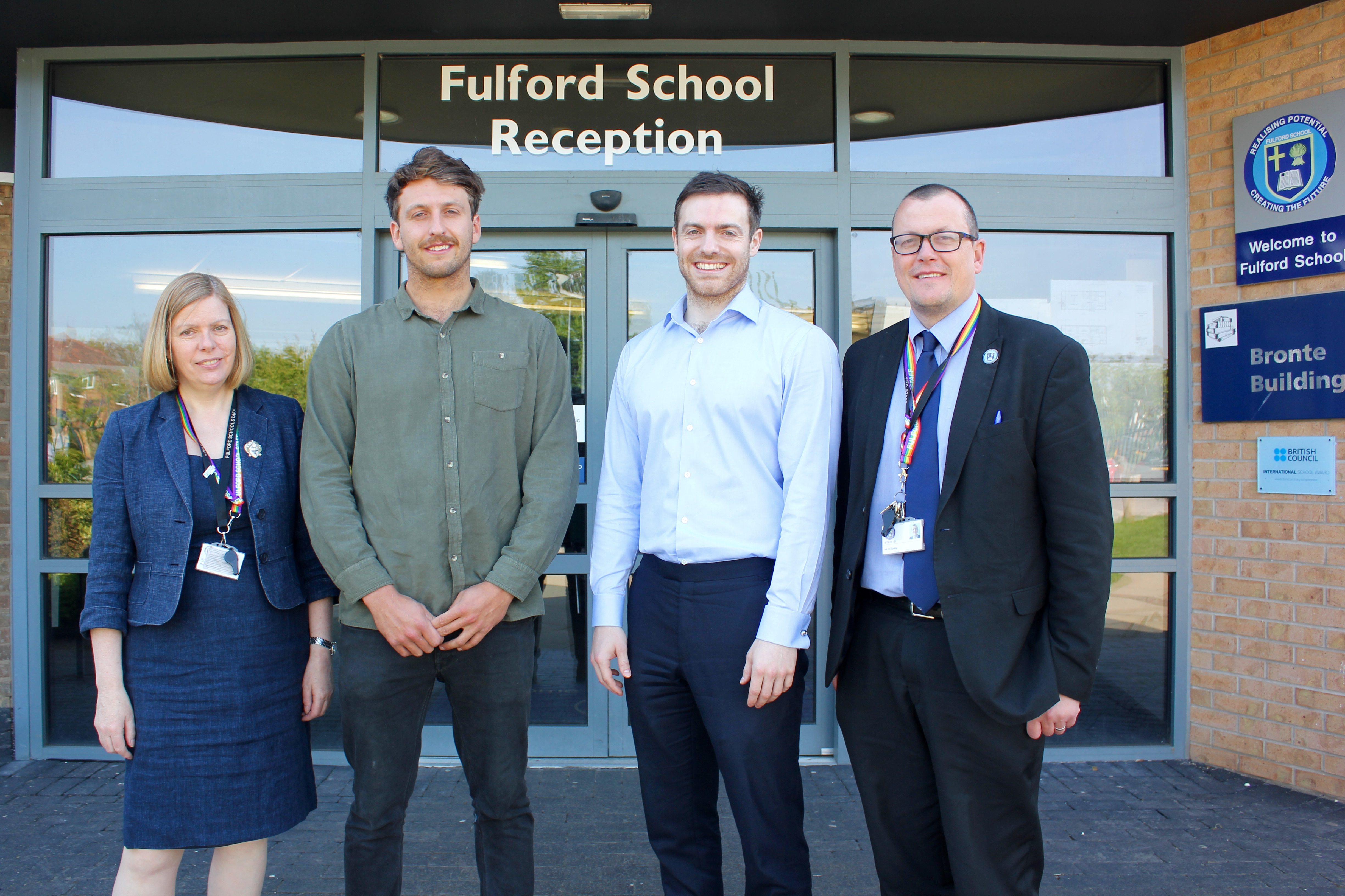 Jason and Russell Paver visit Fulford School