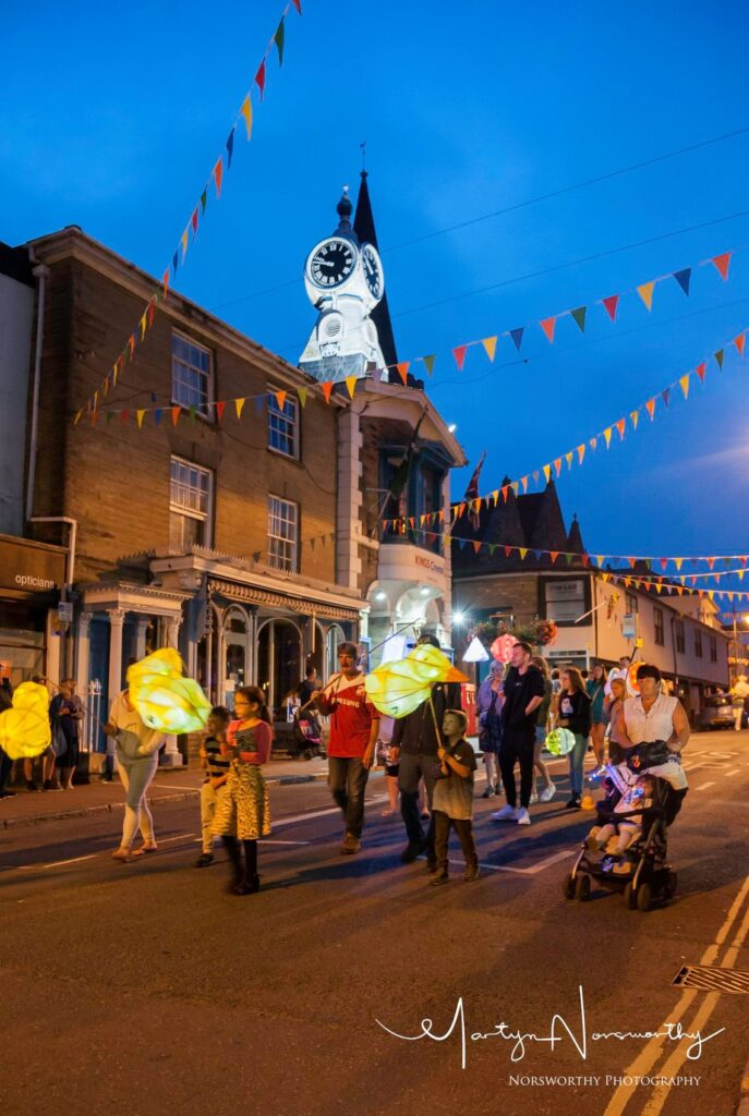 The Lantern Parade at the Kingsbridge Fair Week.
