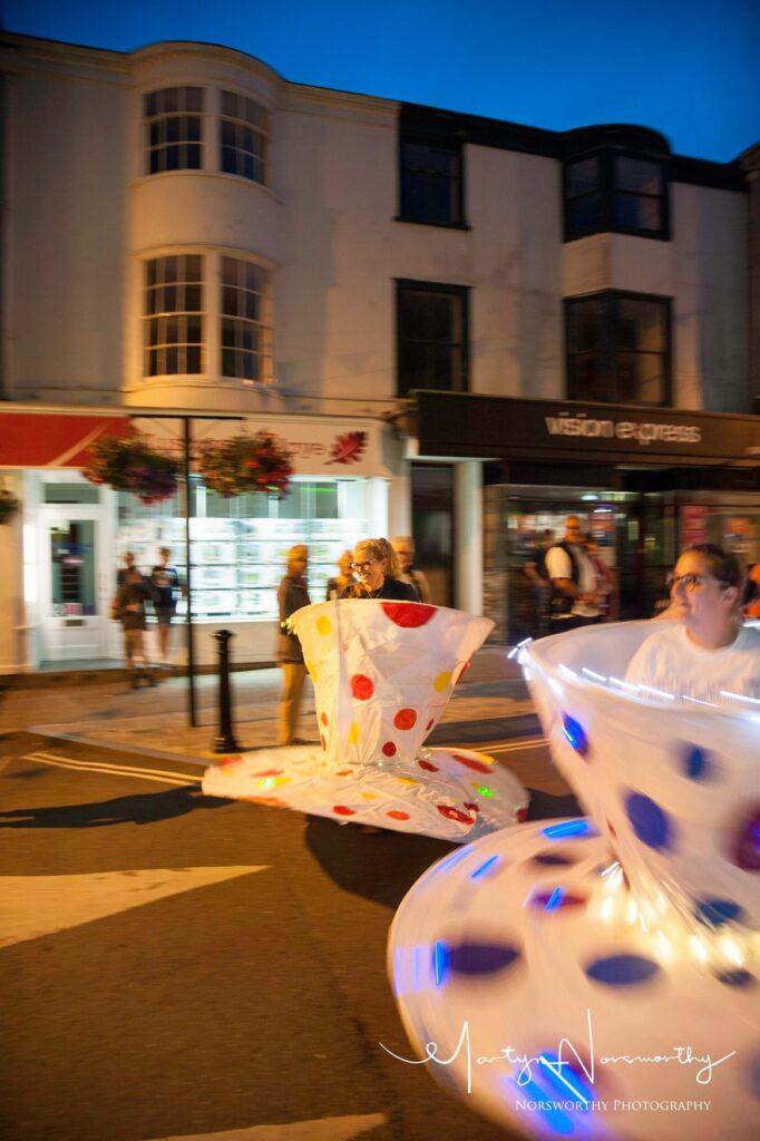 The Lantern Parade at the Kingsbridge Fair Week.