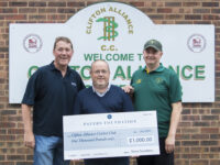 Clifton Alliance Cricket Club Bowled Over with £1,000 Donation