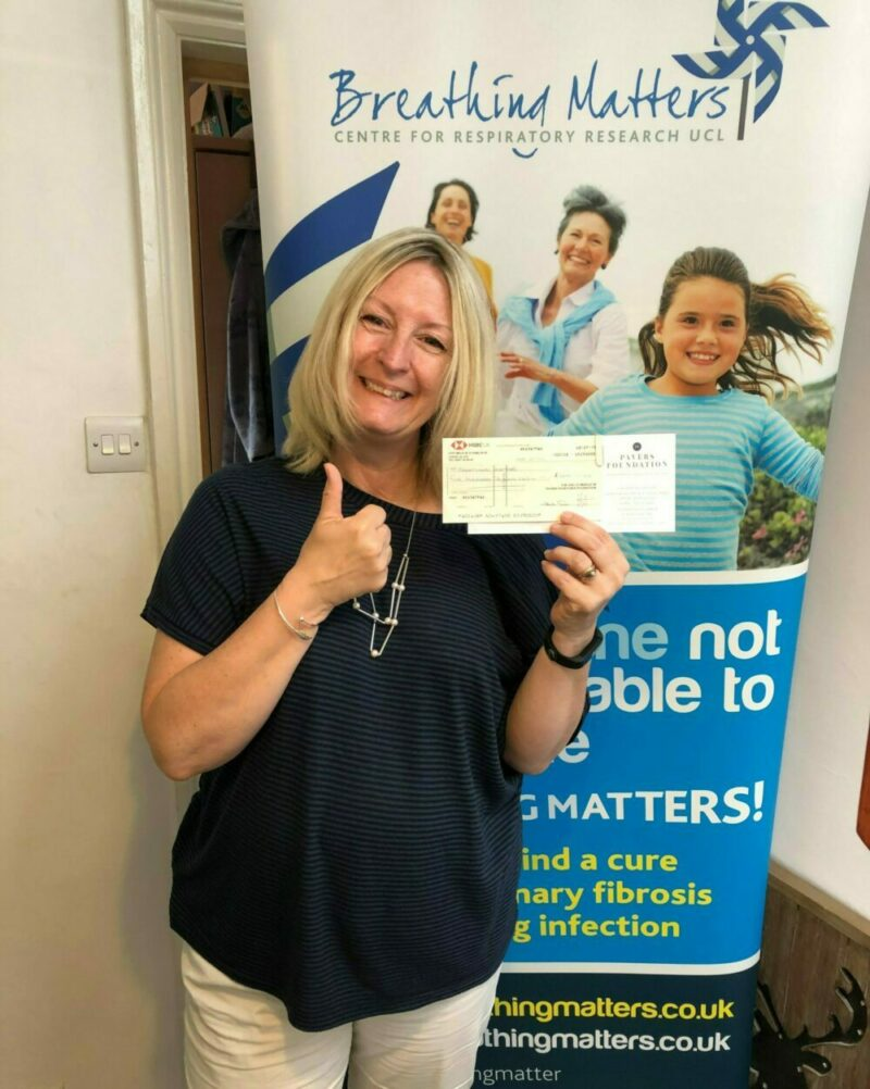 Breathing Matters receives £500 from the Pavers Foundation