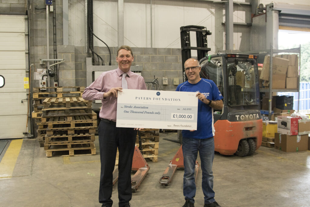 Mark Granger, Director of Operations with Kevin Atkinson, Warehouse Floor Manager, both from our Head Office in York!