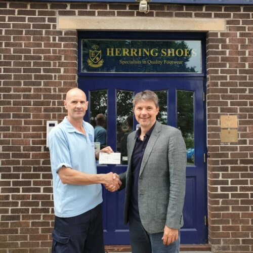 Tony Grant, Warehouse Manager at Herring Shoes with Jason Simmonds, Managing Director of Herring Shoes.