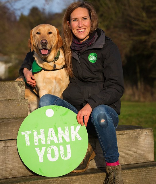 Dogs for Good saying thank you!