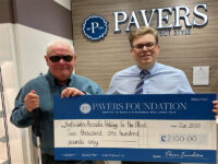 The Pavers Foundation has donated £2,100 to North Wales Accessible Holidays for the Blind and Visually Impaired