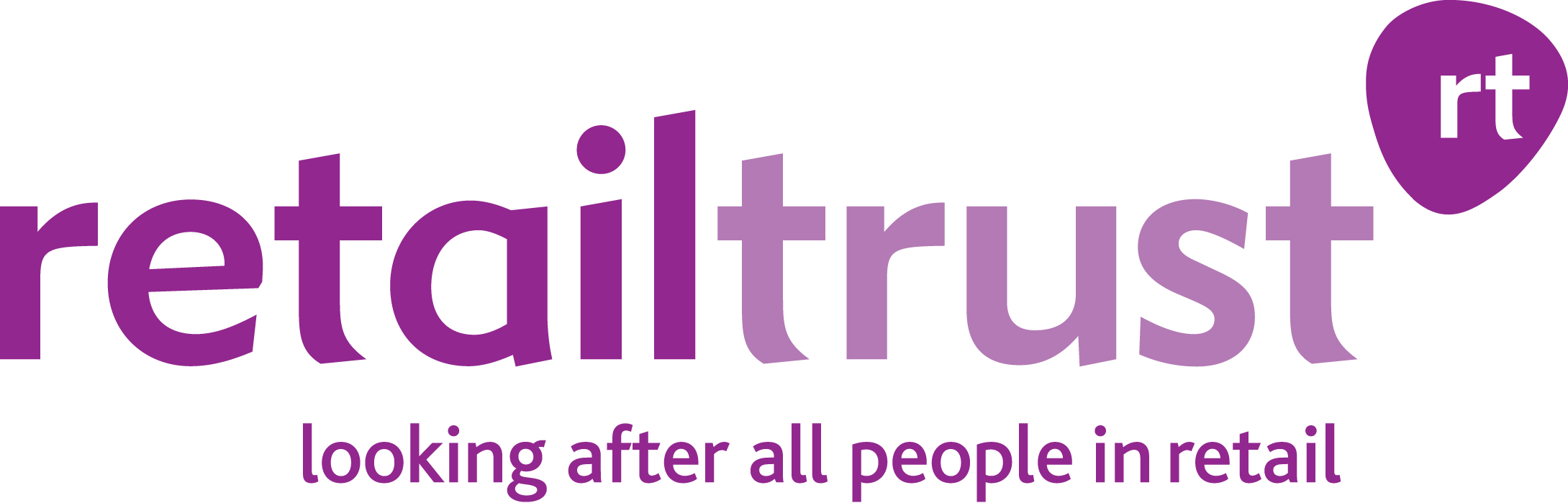 """Retail Trust Logo """"looking after all people in retail"""""""