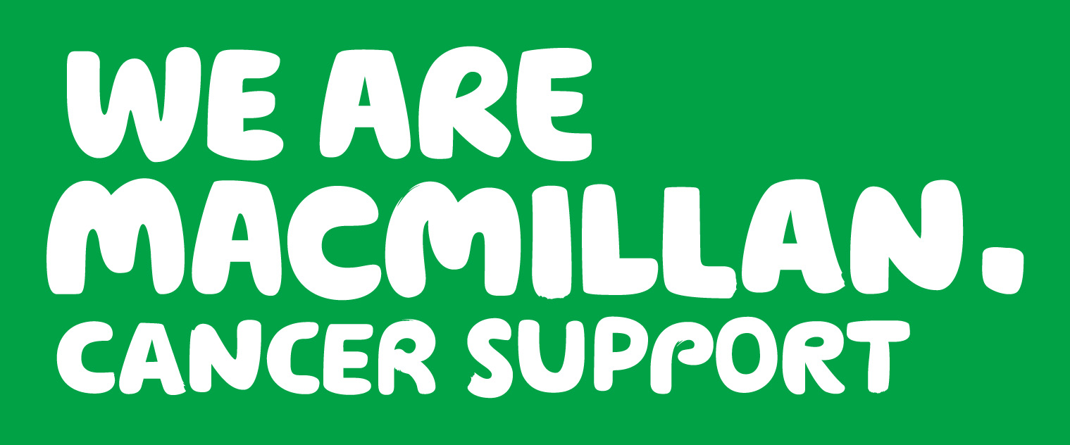 """Macmillan Cancer Support Logo """"We are Macmillan Cancer Support"""""""